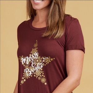 Altar'd State Tops - Altar'd State Intimates Merry & Bright T-shirt